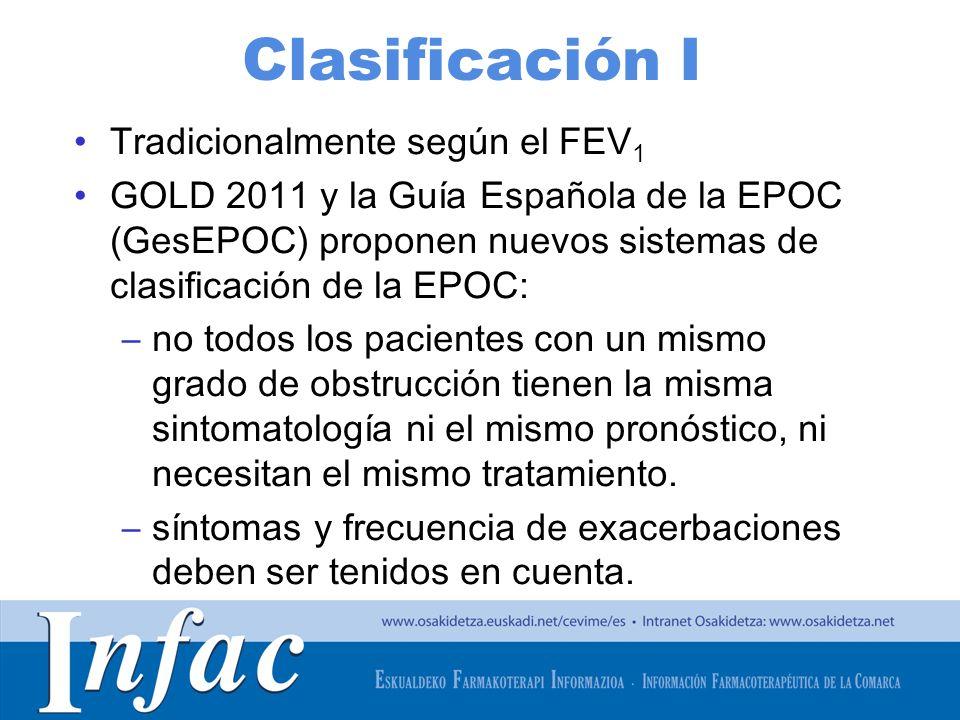 Clasificación I Tradicionalmente según el FEV1