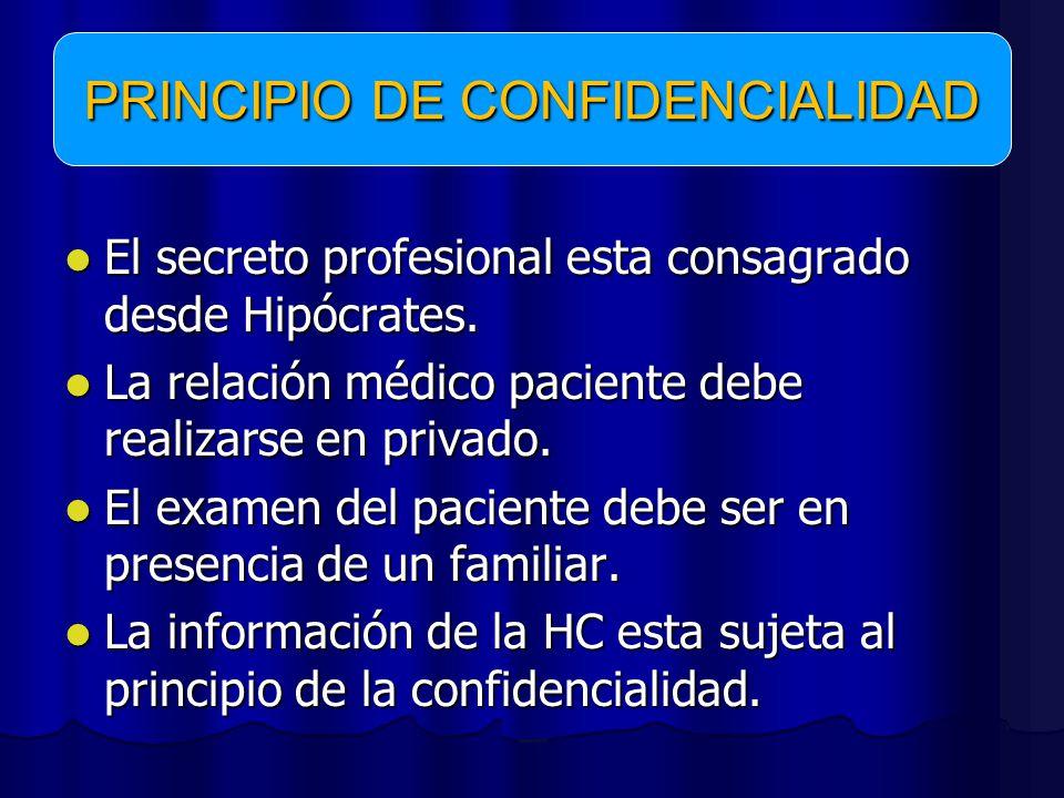 PRINCIPIO DE CONFIDENCIALIDAD