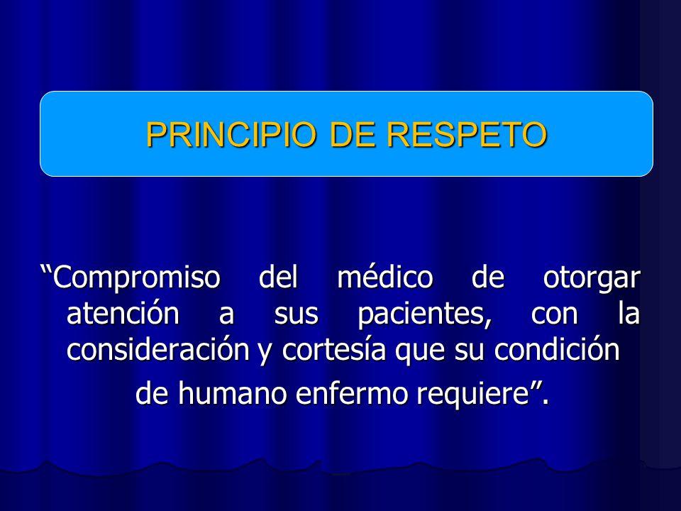 PRINCIPIO DE RESPETO