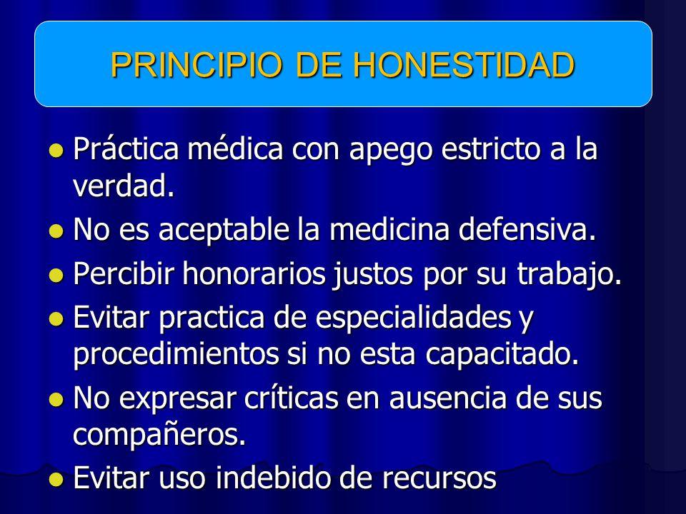 PRINCIPIO DE HONESTIDAD