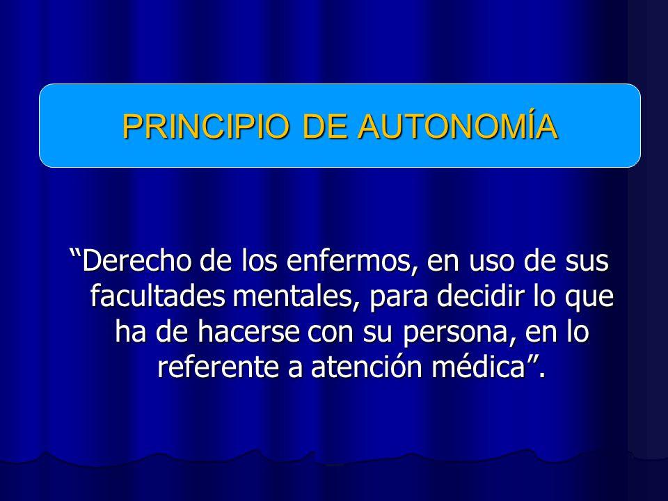 PRINCIPIO DE AUTONOMÍA