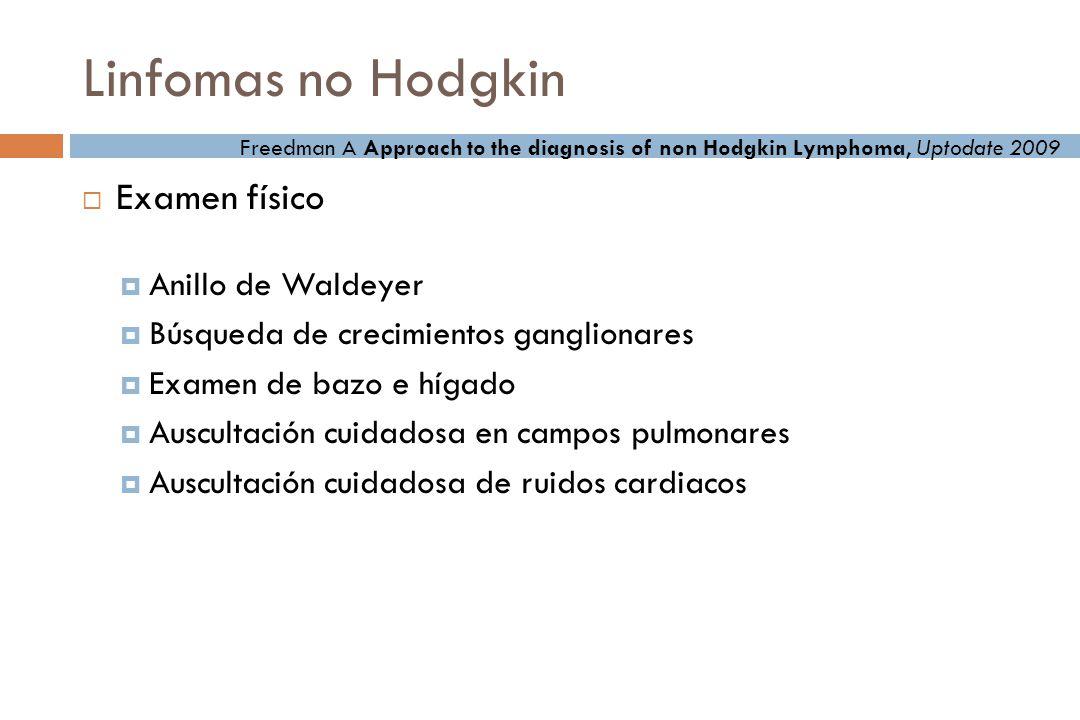 Linfomas no Hodgkin Examen físico Anillo de Waldeyer
