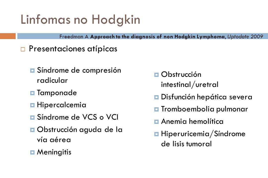 Linfomas no Hodgkin Presentaciones atípicas