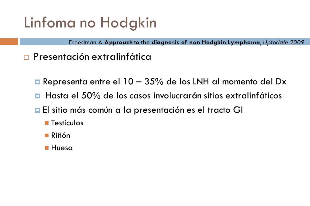 Linfoma no Hodgkin Presentación extralinfática