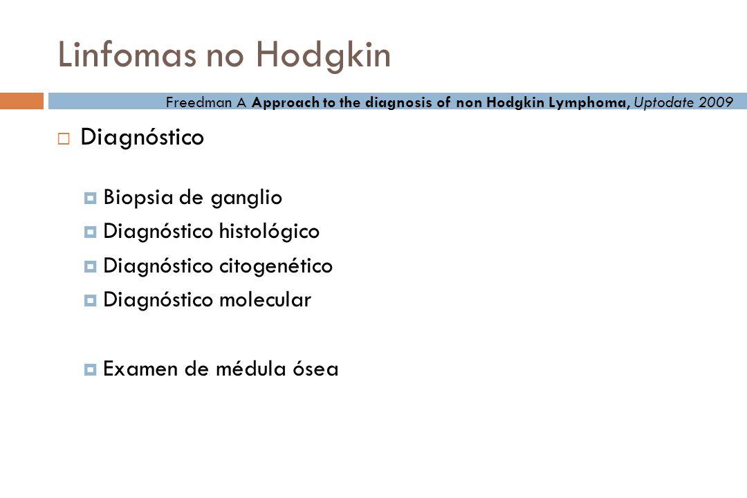 Linfomas no Hodgkin Diagnóstico Biopsia de ganglio