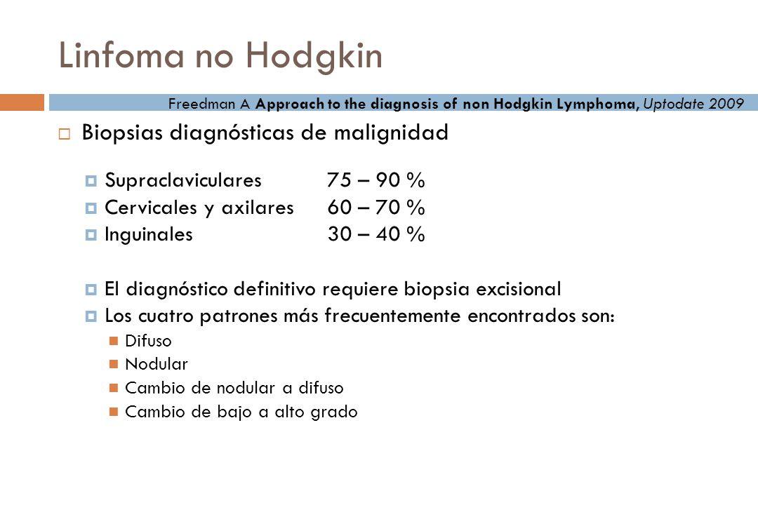 Linfoma no Hodgkin Biopsias diagnósticas de malignidad