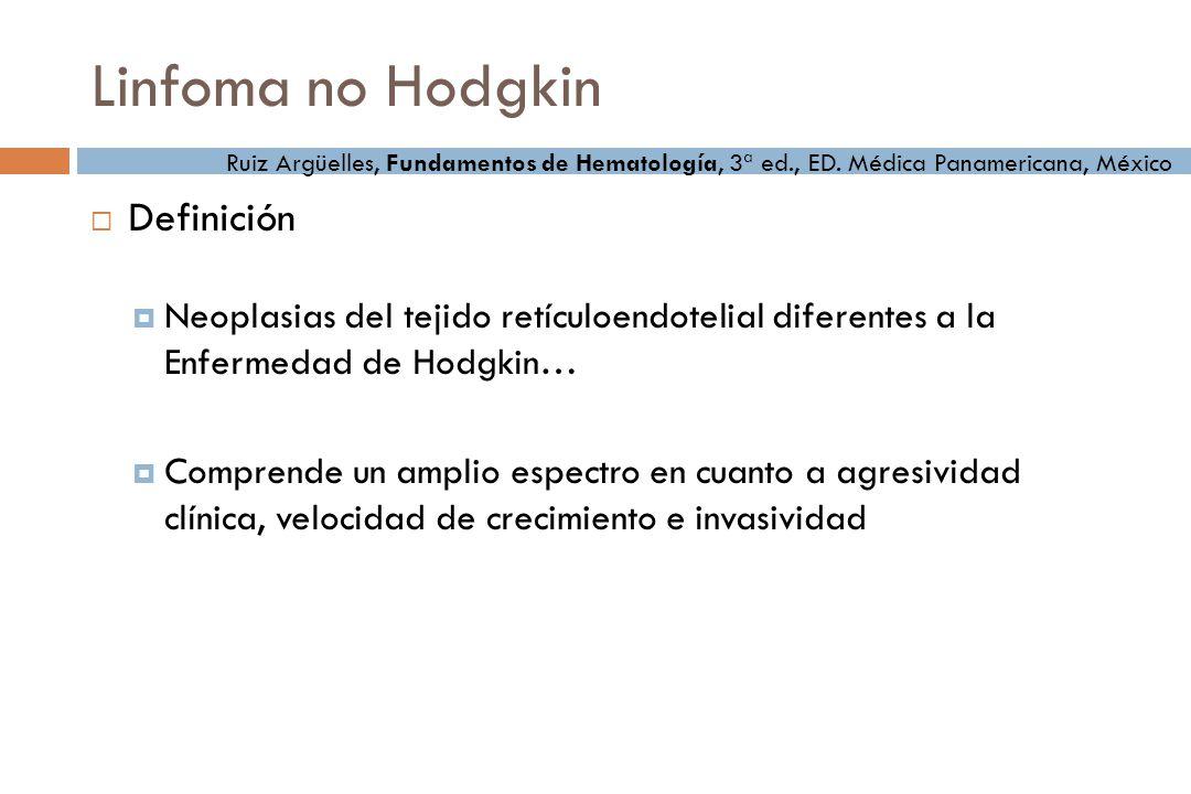 Linfoma no Hodgkin Definición