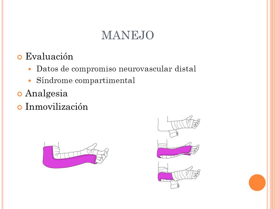 MANEJO Evaluación Analgesia Inmovilización