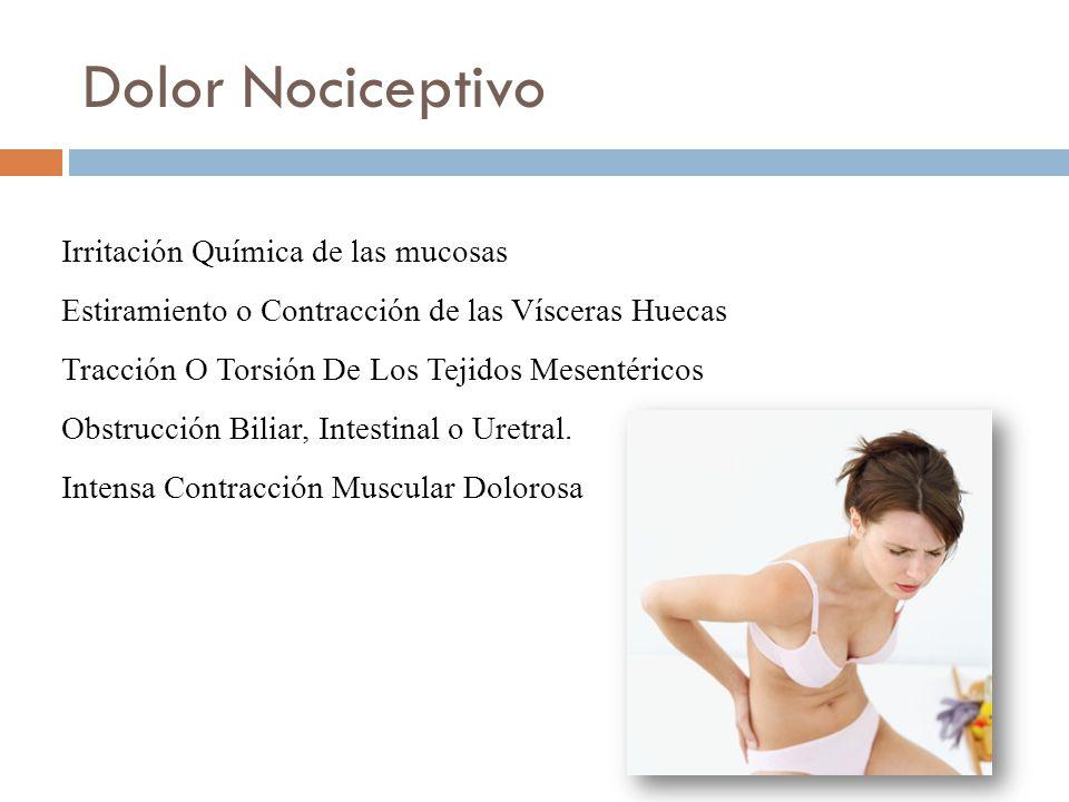 Dolor Nociceptivo Irritación Química de las mucosas