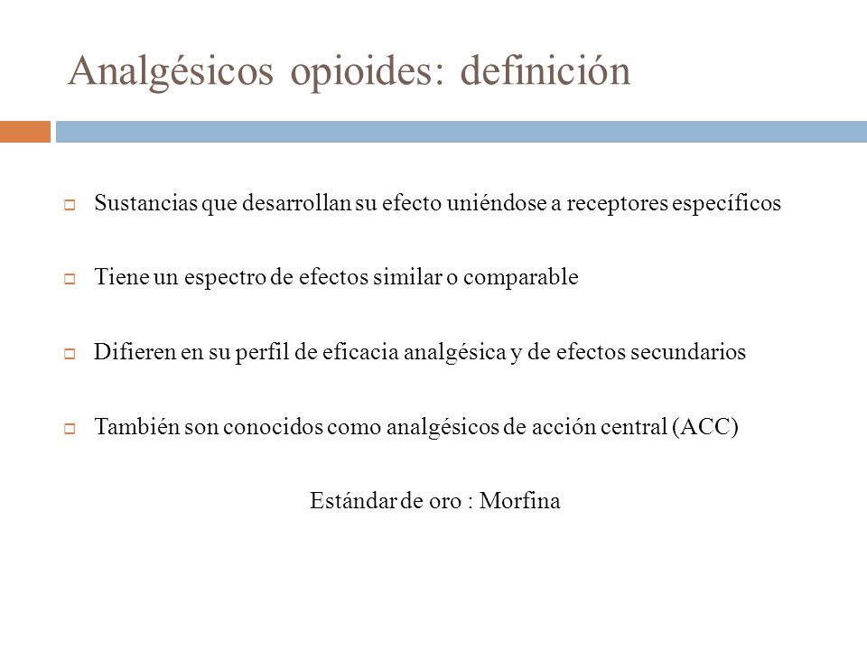 Analgésicos opioides: definición