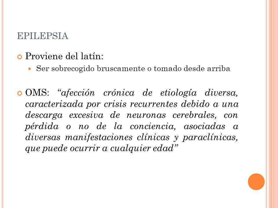 epilepsia Proviene del latín: