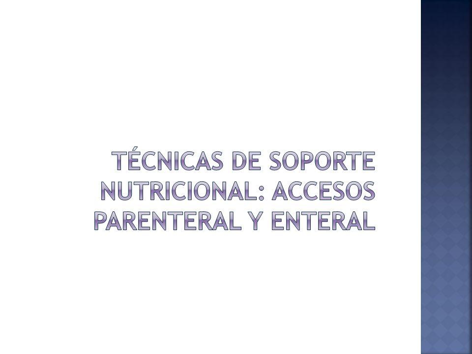 Técnicas de soporte nutricional: accesos parenteral y enteral