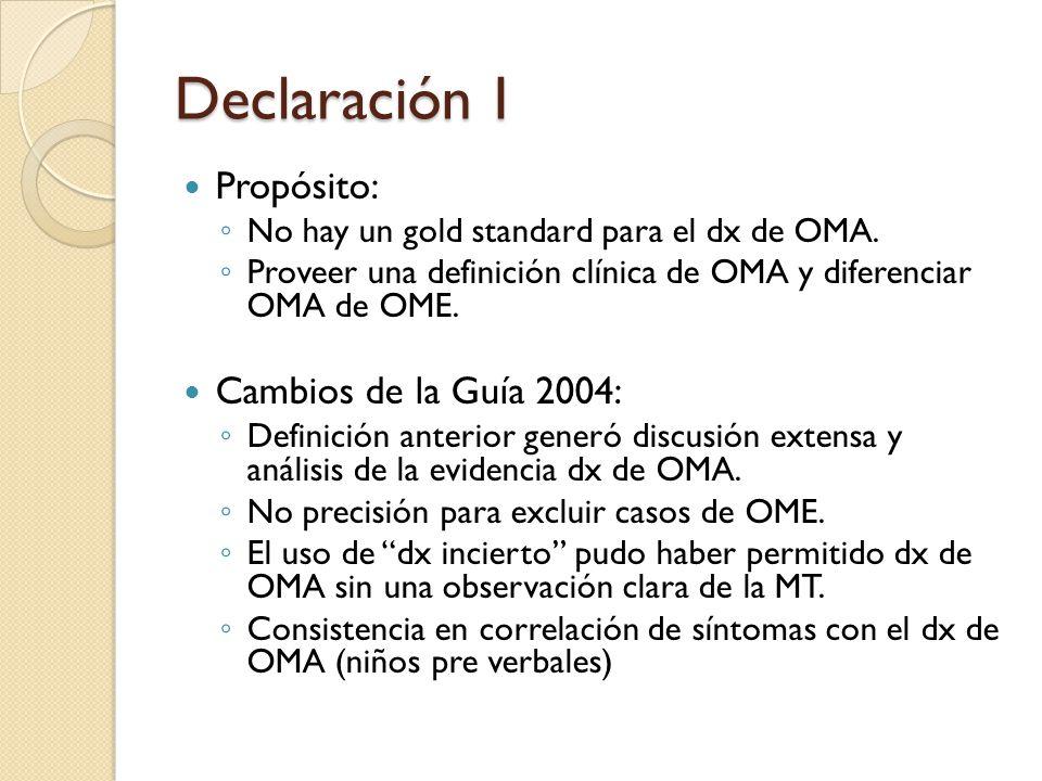 Declaración I Propósito: Cambios de la Guía 2004: