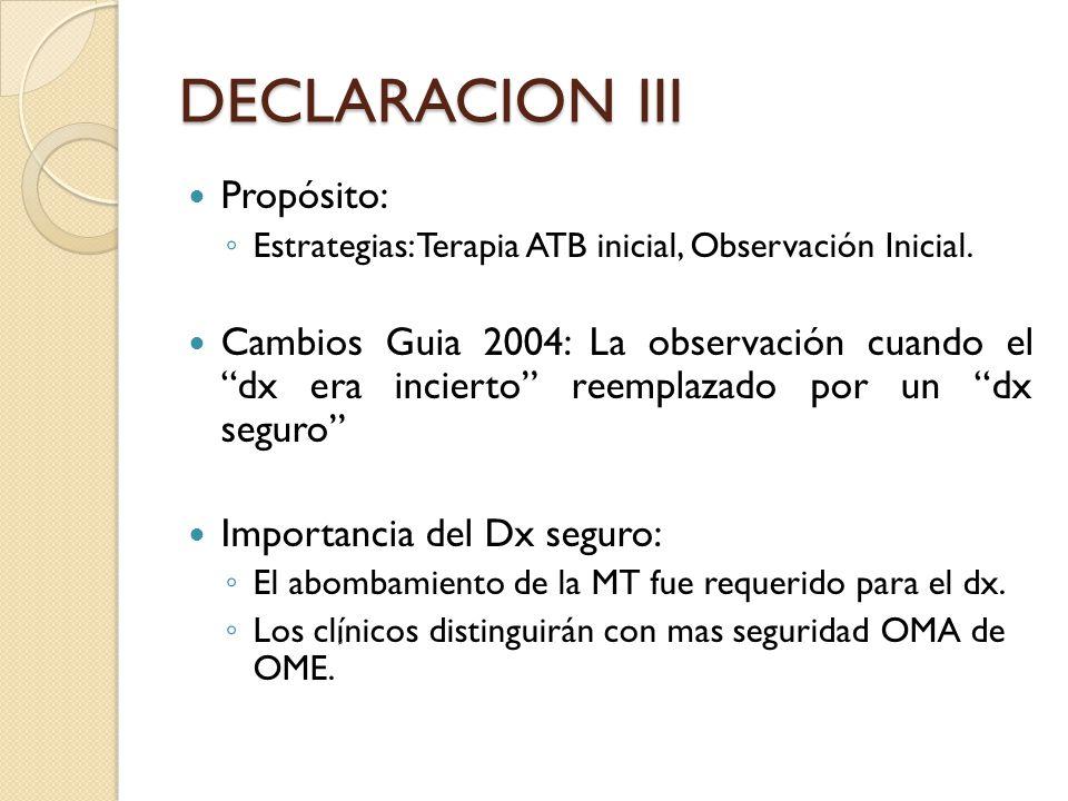 DECLARACION III Propósito: