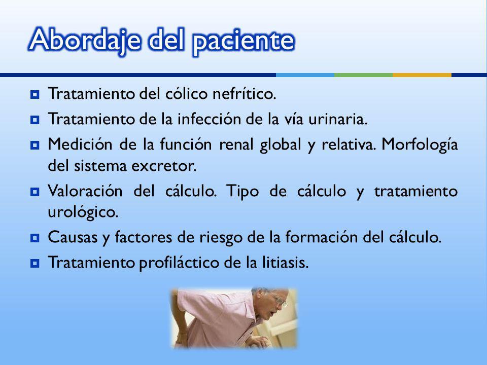 Abordaje del paciente Tratamiento del cólico nefrítico.