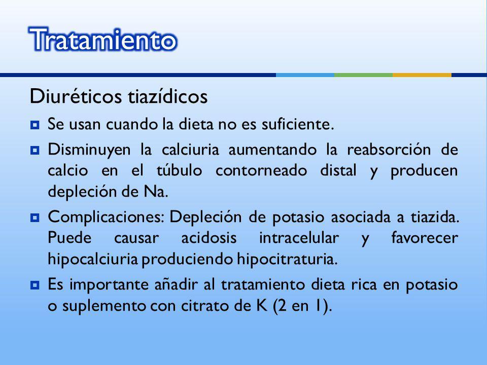 Tratamiento Diuréticos tiazídicos