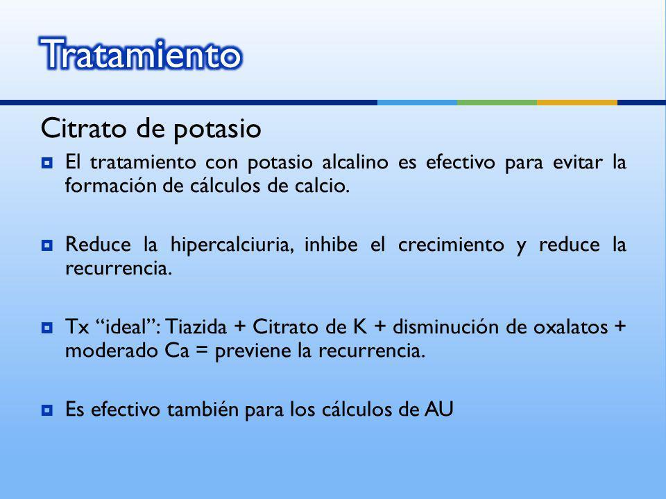 Tratamiento Citrato de potasio