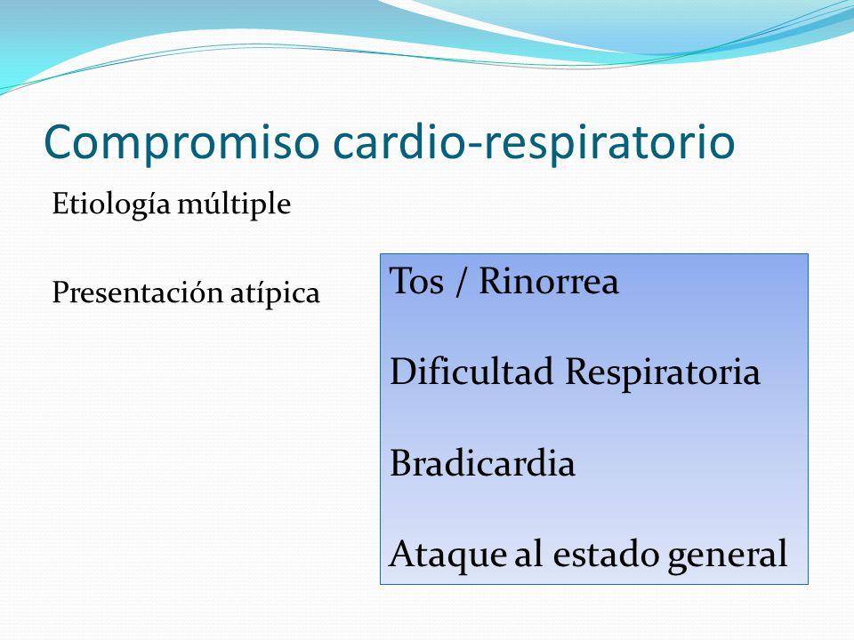Compromiso cardio-respiratorio