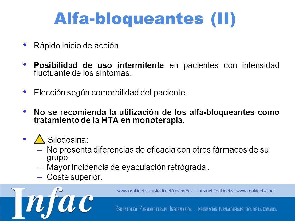 Alfa-bloqueantes (II)