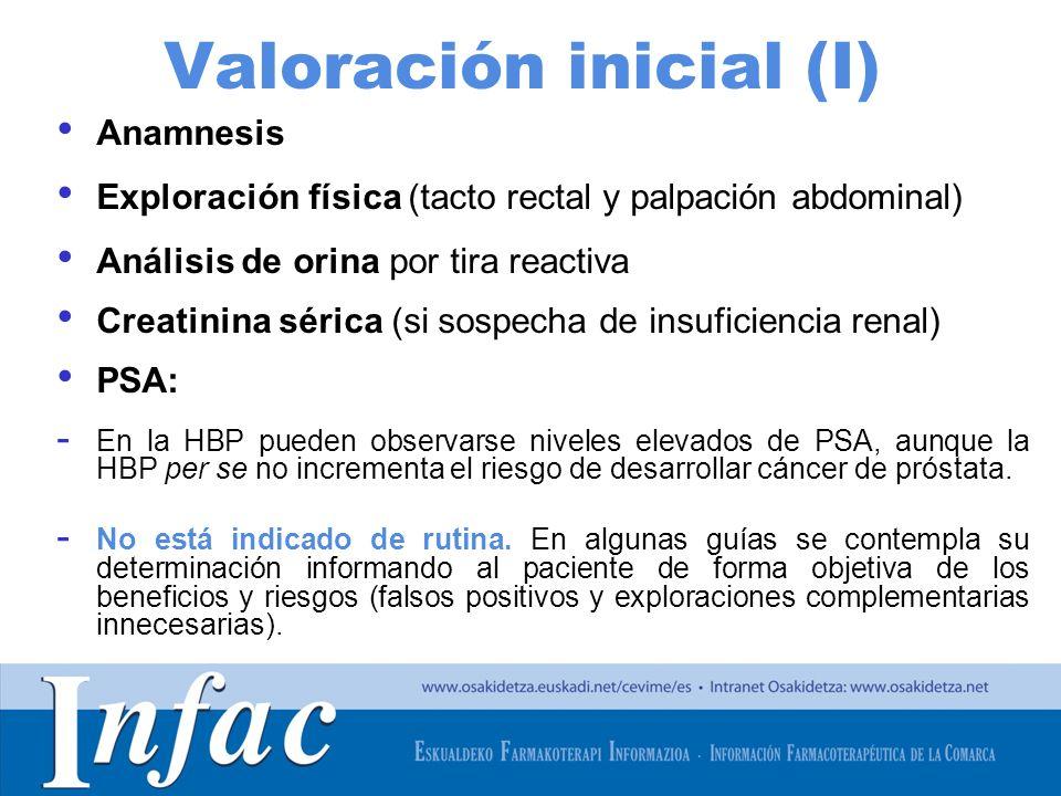 Valoración inicial (I)