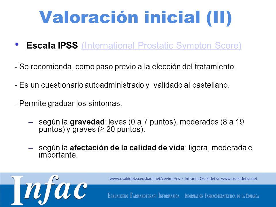 Valoración inicial (II)