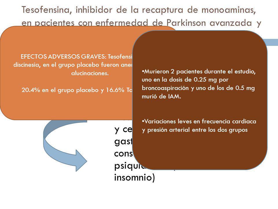 20.4% en el grupo placebo y 16.6% Tamsulosina