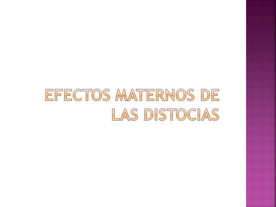 Efectos maternos de las distocias