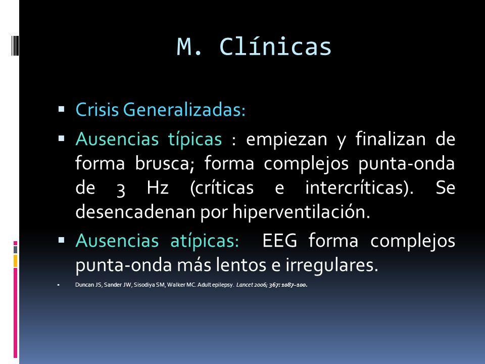 M. Clínicas Crisis Generalizadas: