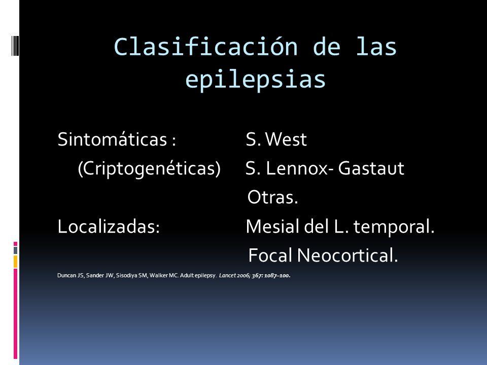 Clasificación de las epilepsias