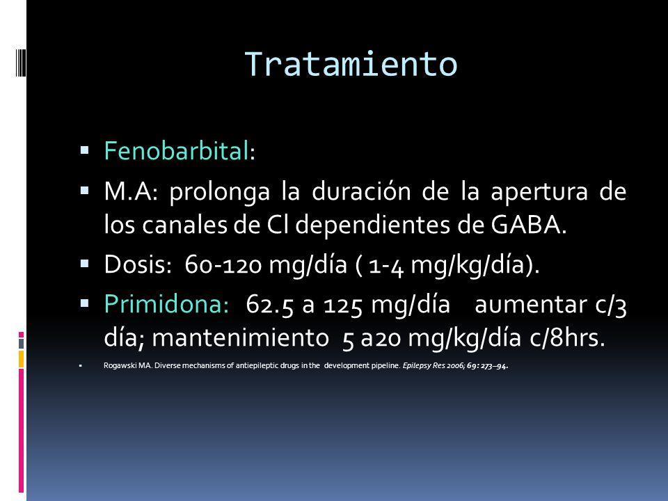 Tratamiento Fenobarbital: