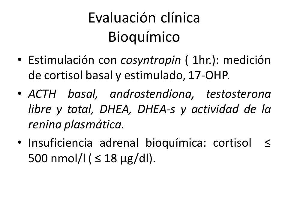 Evaluación clínica Bioquímico