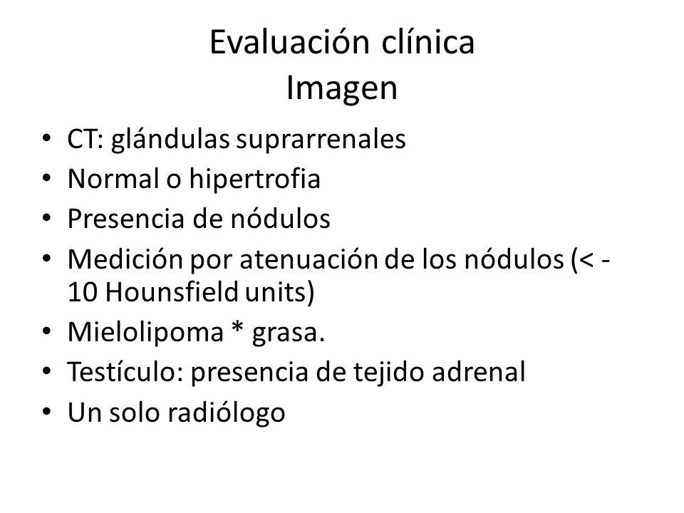 Evaluación clínica Imagen