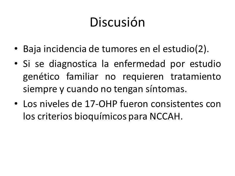 Discusión Baja incidencia de tumores en el estudio(2).