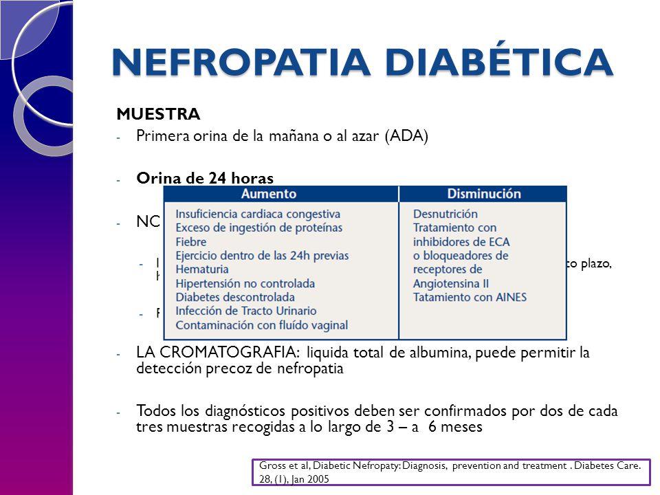 NEFROPATIA DIABÉTICA MUESTRA