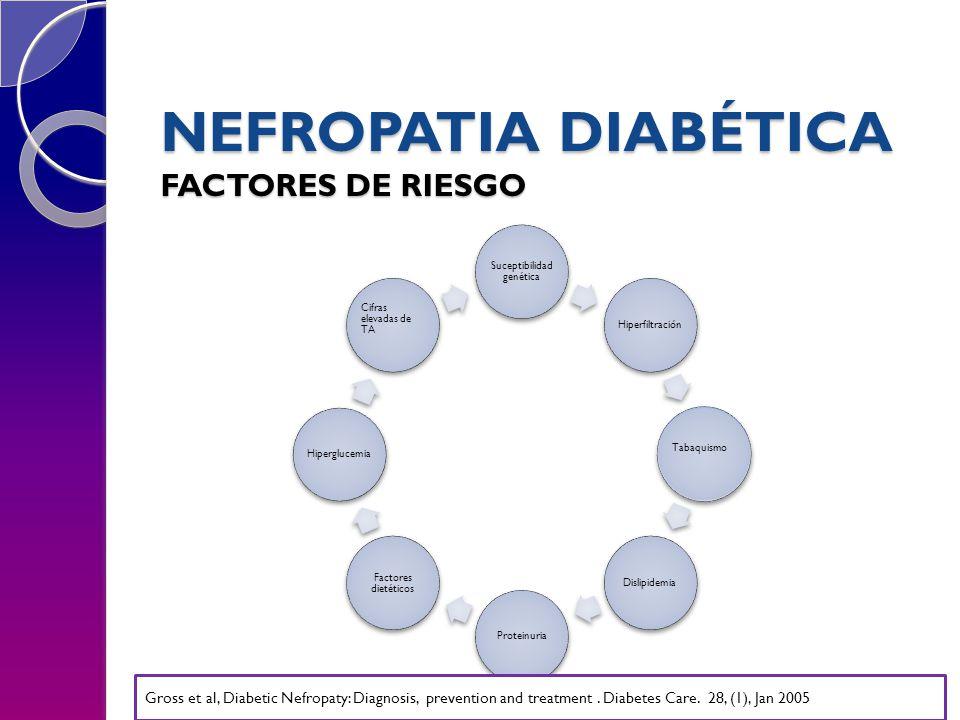 NEFROPATIA DIABÉTICA FACTORES DE RIESGO