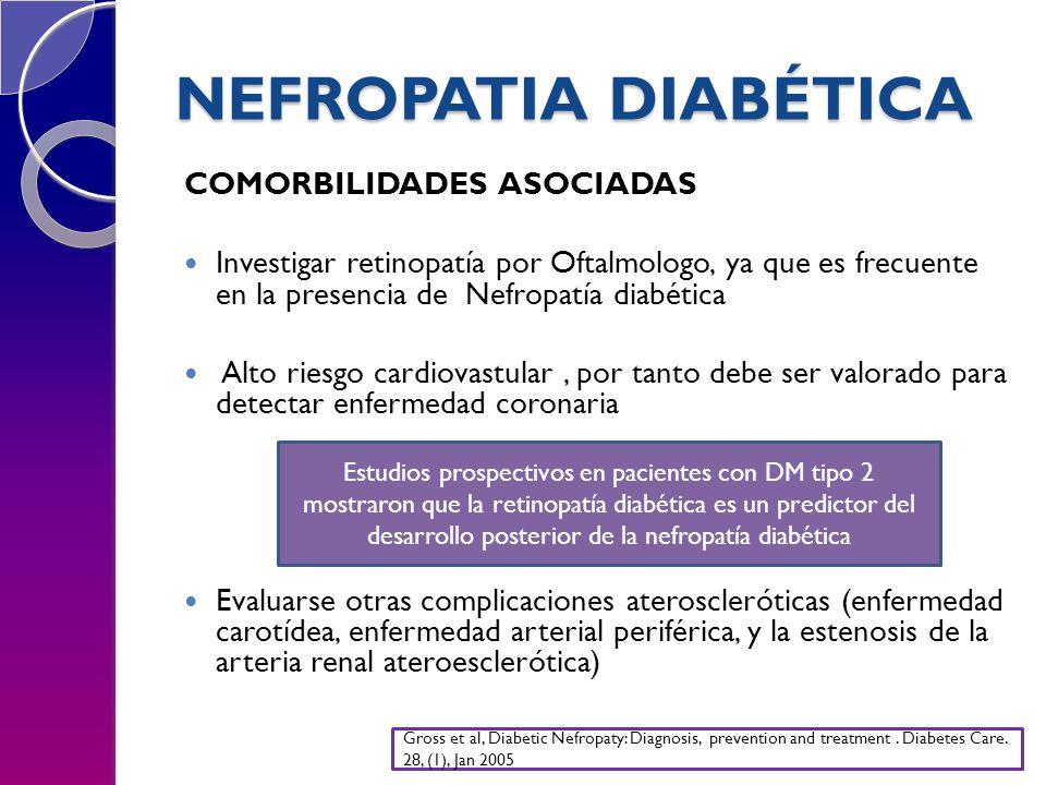 NEFROPATIA DIABÉTICA COMORBILIDADES ASOCIADAS