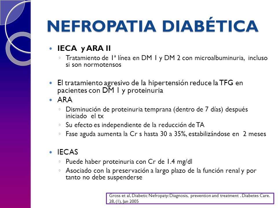 NEFROPATIA DIABÉTICA IECA y ARA II