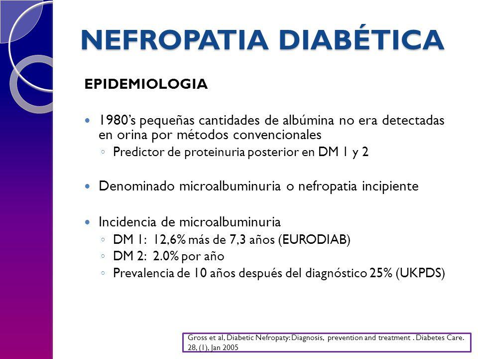 NEFROPATIA DIABÉTICA EPIDEMIOLOGIA