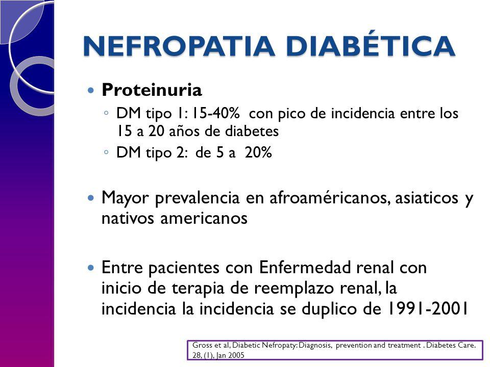 NEFROPATIA DIABÉTICA Proteinuria