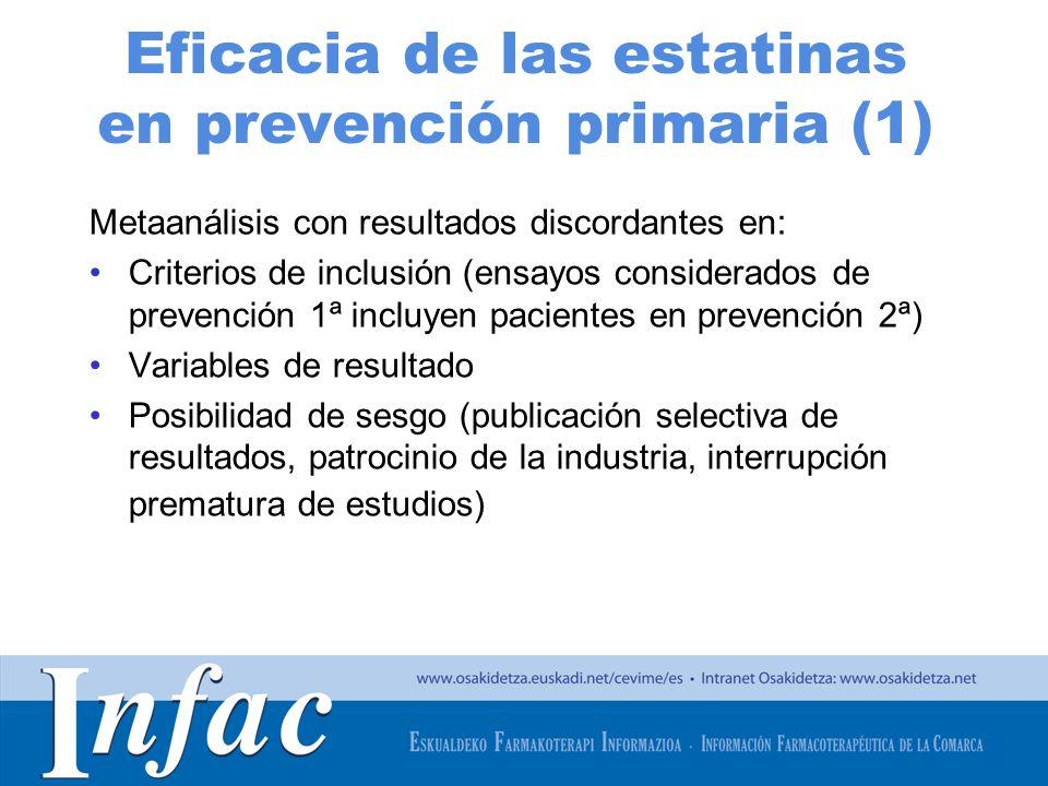 Eficacia de las estatinas en prevención primaria (1)
