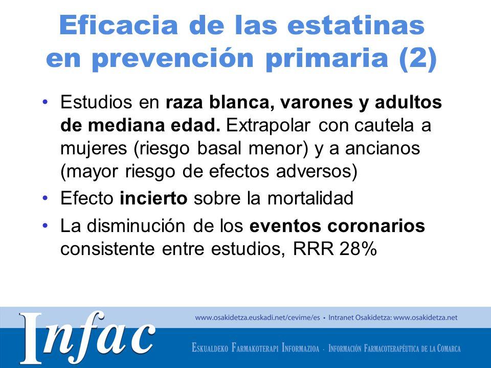 Eficacia de las estatinas en prevención primaria (2)