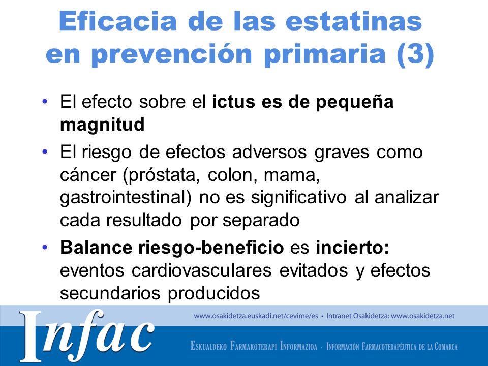 Eficacia de las estatinas en prevención primaria (3)