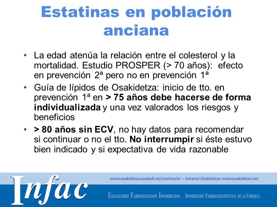 Estatinas en población anciana