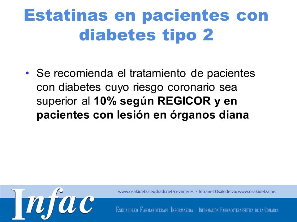 Estatinas en pacientes con diabetes tipo 2