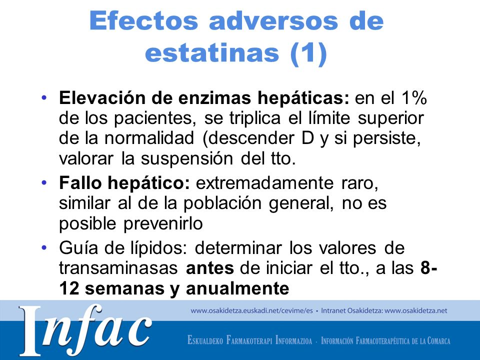 Efectos adversos de estatinas (1)
