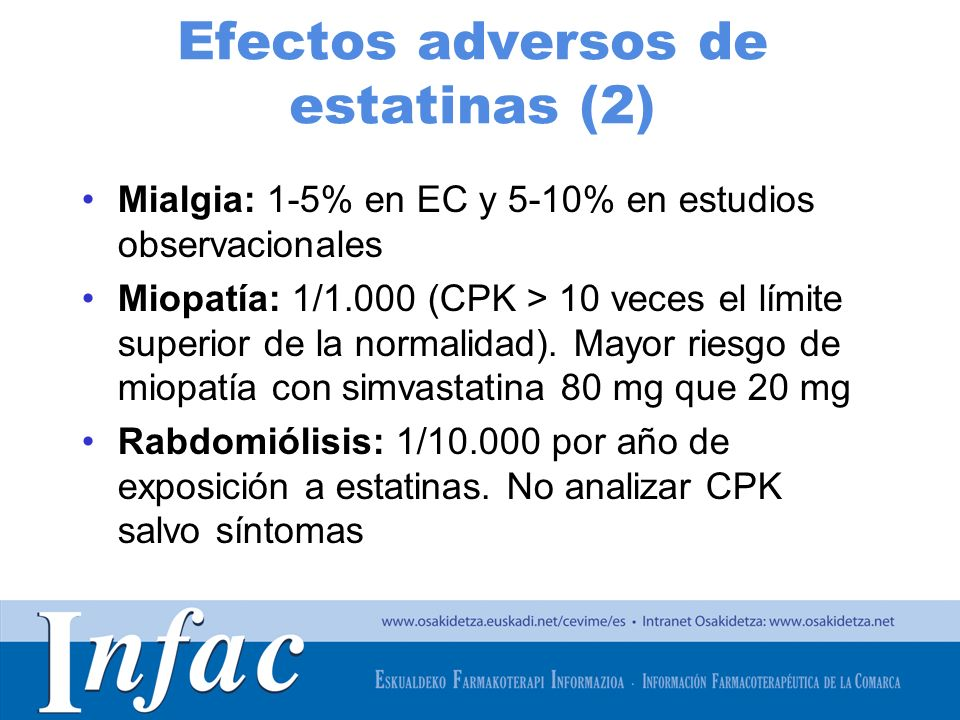 Efectos adversos de estatinas (2)
