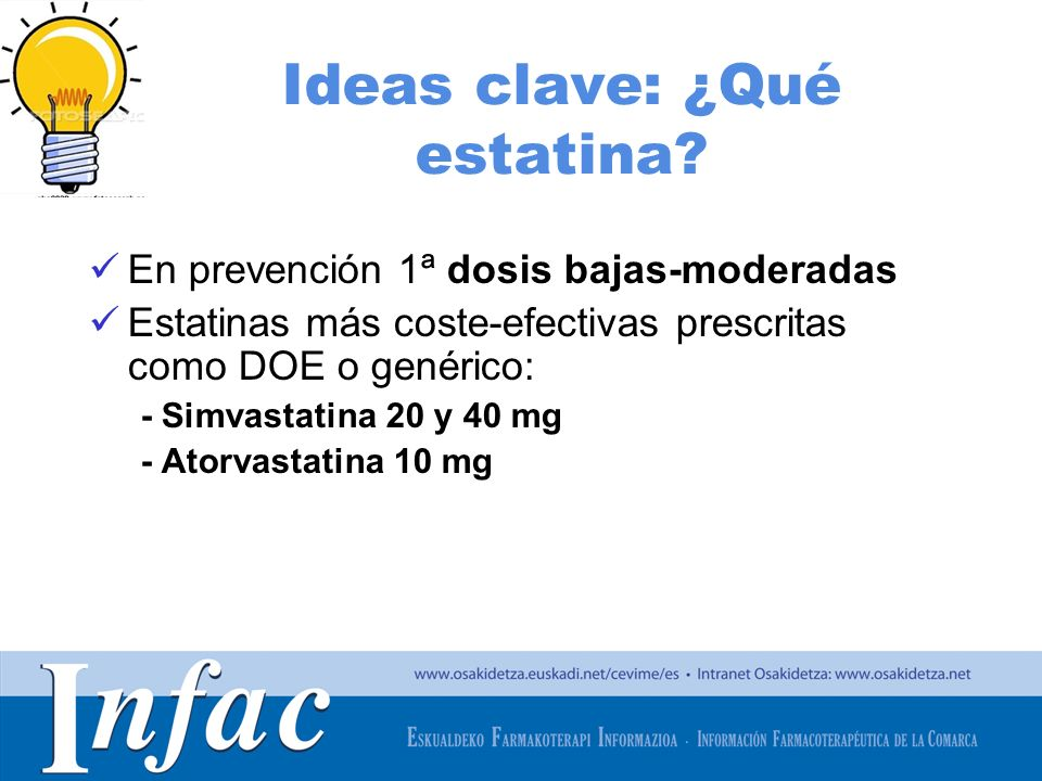 Ideas clave: ¿Qué estatina