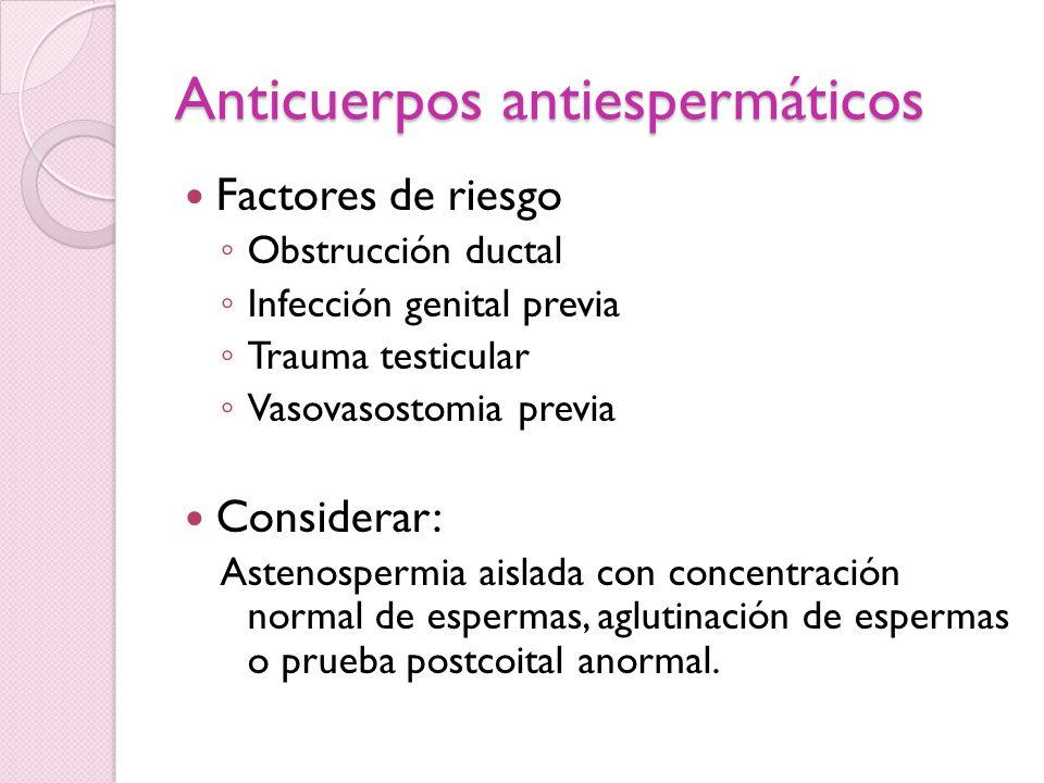 Anticuerpos antiespermáticos
