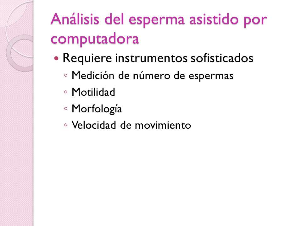 Análisis del esperma asistido por computadora