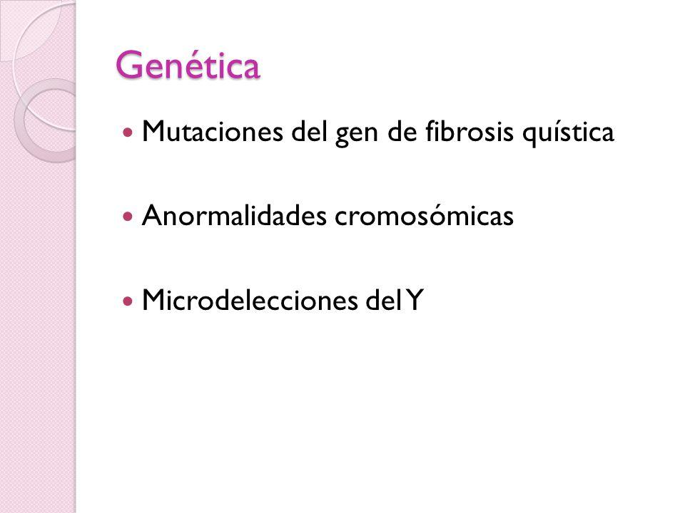Genética Mutaciones del gen de fibrosis quística